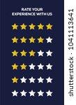 five stars customer product... | Shutterstock .eps vector #1041113641