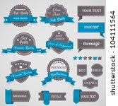 set of vintage labels and... | Shutterstock .eps vector #104111564