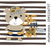 cartoon teddy bear vector ...   Shutterstock .eps vector #1041116737