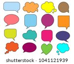 speech bubble icon  isolated.... | Shutterstock .eps vector #1041121939