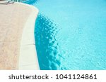 beautiful swimming pool at the... | Shutterstock . vector #1041124861