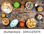 various dishes of pakistani and ...   Shutterstock . vector #1041125374