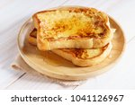 french toast with honey syrup... | Shutterstock . vector #1041126967