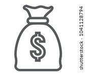 money bag line icon  finance...