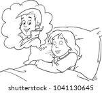 beautiful girl sleeps in the... | Shutterstock .eps vector #1041130645