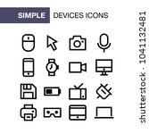 set of device icons for simple...