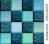 seamless leather patchwork... | Shutterstock . vector #1041136231