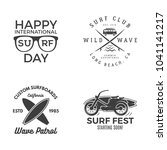 vintage surfing graphics and...   Shutterstock .eps vector #1041141217