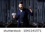 millionaire in elegant suit... | Shutterstock . vector #1041141571