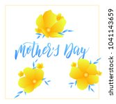 mothers day. holiday card... | Shutterstock .eps vector #1041143659