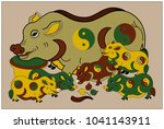 """dong ho painting  """" the family... 