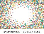 vector colorful text box made... | Shutterstock .eps vector #1041144151