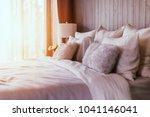 light soft pillow on beautiful... | Shutterstock . vector #1041146041