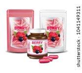 berries dietary supplement foil ...   Shutterstock .eps vector #1041149311