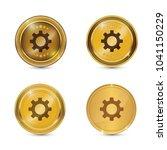 settings circular vector gold...   Shutterstock .eps vector #1041150229