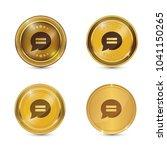 message circular vector gold...   Shutterstock .eps vector #1041150265