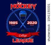 emblem of the hockey league.... | Shutterstock .eps vector #1041150331