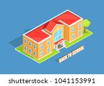 back to school isolated 3d ... | Shutterstock . vector #1041153991