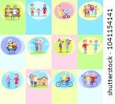 happy grandparents day poster... | Shutterstock . vector #1041154141