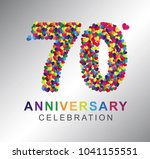 70th anniversary design... | Shutterstock .eps vector #1041155551