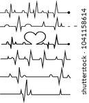 heart rate graphic. vector...   Shutterstock .eps vector #1041158614
