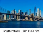 lower manhattan downtown... | Shutterstock . vector #1041161725