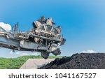 coal stacker and coal reclaimer ... | Shutterstock . vector #1041167527