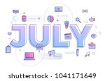 vector illustrate july. | Shutterstock .eps vector #1041171649