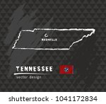 map of tennessee  chalk sketch... | Shutterstock .eps vector #1041172834