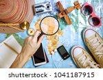 tourist planing   travel plan ... | Shutterstock . vector #1041187915