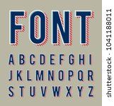 vector of trendy alphabet  font ... | Shutterstock .eps vector #1041188011