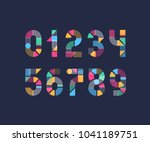 vector creative color geometry... | Shutterstock .eps vector #1041189751