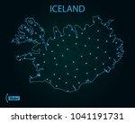 map of iceland | Shutterstock .eps vector #1041191731