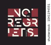 no regrets abstract geometric... | Shutterstock .eps vector #1041194551