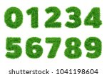 collection of  numbers.  green... | Shutterstock .eps vector #1041198604
