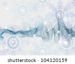 Abstract Background with snowflakes, beautiful blue vector illustration - stock vector