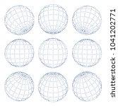 set of 3d spheres globe earth...   Shutterstock .eps vector #1041202771