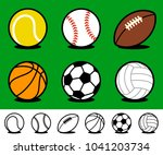 set of six different colored... | Shutterstock .eps vector #1041203734