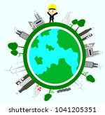 environmental engineer  ecology ... | Shutterstock .eps vector #1041205351