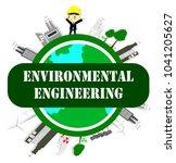 environmental engineer  ecology ... | Shutterstock .eps vector #1041205627