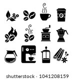 coffee icon set vector | Shutterstock .eps vector #1041208159