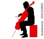silhouettes a musician playing... | Shutterstock .eps vector #1041210835