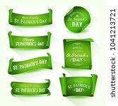happy st. patrick's day... | Shutterstock .eps vector #1041213721