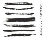 big set of textured dry brush... | Shutterstock .eps vector #1041224581