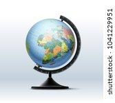 vector globe of planet earth... | Shutterstock .eps vector #1041229951