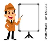 vector drawing of a detective... | Shutterstock .eps vector #1041230611