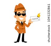 vector drawing of a detective ... | Shutterstock .eps vector #1041232861