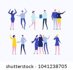 party   flat design style set... | Shutterstock .eps vector #1041238705