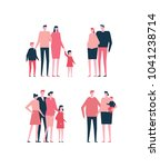 families   flat design style... | Shutterstock .eps vector #1041238714
