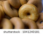 the many donuts. donuts dough... | Shutterstock . vector #1041240181